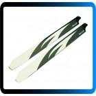 360mm ALZRC-  lâminas principais para 465 480  450L - trex - de fibra de vidro