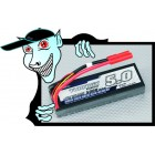 BATERIA Turnigy 5000mAh 2S1P 20C hardcase pack (ROAR APROVADO)