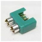 conector MPX com anel de cor prata, do sexo feminino (5pcs por saco)