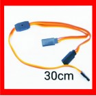 EXTENSÃO DE SERVO Twisted 30cm Y Servo Leads ( JR ) 24AWG