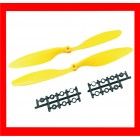 HELICE SLOW  Fly elétrica Prop 1045 SF -2 pc - Amarelo  Direito rotação
