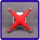 Capa - Corpo Silicone Gel - Protetora para DJI Phantom 3 - vermelha