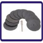 10pcs 38 milímetros de fibra de vidro reforçada Cut off roda com adaptador de broca para Dremel Rotary Tool