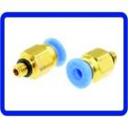 Conector  Ar Pneumático Quick Pipe Fitting 4mm Para M5