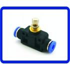 Fluxo De Ar Válvula De Controle De Velocidade Tubo Mangueira De Água Pressão Pneumática em encaixes 4mm