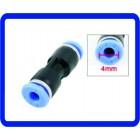 Ar Pneumática 4mm a 4mm, Direto Push nos Conectores Rápido Acessórios