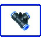 4mm Tubo Tee União Pneumático Push acopladores rápidos