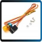 Austar LED luz de aviso / ambulância da liga de alumínio pedestal 9 * controle ch3 15 milímetros