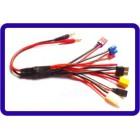 CHICOTE Multifuncional para carregador com adaptador conector  4.0mm banana Tamiya TRX XT60 Ce3 FIO de JST