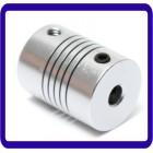 5mm x de 8 milímetros de alumínio flexível Shaft Coupling OD19mm x L25mm CNC Stepper Motor Acoplador Connector