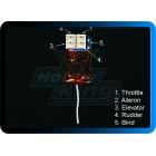 MICRO RECEPTORA OrangeRx R410 Spektrum DSM2 Compatible 4Ch 2.4Ghz Receiver *