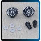 STICK CABEÇA Transmissor Polegar  Cnc Metal Upgrade Para m4-size Jr / FUTABA  PRETA