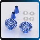 STICK CABEÇA Transmissor Polegar  Cnc Metal Upgrade Para m4-size Jr Azul