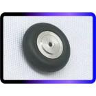 "Pneu p/ bequilha traseira, em borracha maciça c/cubo alumínio 1.00""  ( 25,4 mm )"