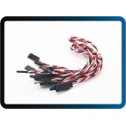 Twisted 30cm Servo Lead Extention (Futaba) with hook 22AWG (5pcs/bag)