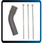 Defletor de escape c/ abraçadeiras de nylon p/ mufflers 2T c/ saída de 7mm (motores até .40)