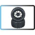 1/10 Rc Monster Truck Tyre 2 PCS For HSP Tamiya Losi