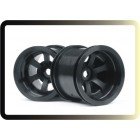 SCORCH 6-SPOKE WHEEL BLACK (2.2IN/55 X 50mm/2PÇS)