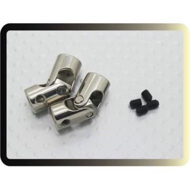 Universal Drive Shaft Coupling para Barco 23 milímetros x 3,17 / 4 milímetros (2pc)