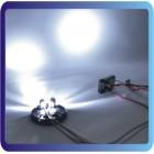Modelo Deriva Car luzes traseiras LED de cabeça e com os copos da Lâmpada
