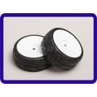 Escala 1:10 roda / pneu Set (2pcs) Branco / Sólido RC 26 milímetros Car