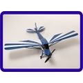 AEROMODELO  J3 PIPER  avião azul - SEMI NOVO - PNF