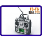 Flysky FS-T6 6ch 2,4 g /com Tela LCD Transmissor + FS R6B Receiver Para Heli Plane