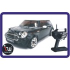 IWAVER 02M MINI COOPER S PRETO RC CAR 01:28 FM RTR MINI -Z
