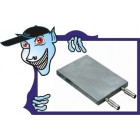 L43 x W23 x H5.5mm 3-Way resfriamento de água de alumínio Placa