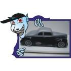 BOLHA 1/10 BPOINT - Ford Coupê 1940 -  TRANSPARENTE + ADESIVOS