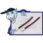Losi Mini plug Pigtail - Bateria (2pcs/bag) 7 centímetros de arame com pontas pré-enlatados.