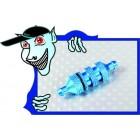 Filtro de combustível em aluminio para carro 1/10 - azul
