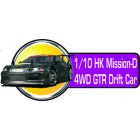 1/10 HK Mission-D 4WD GTR Drift Ca