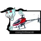 KIT HK-450TT PRO V2 Flybarless 3D Torque-Tube Helicopter Kit (Align T-Rex Compat.)