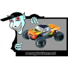 AUTOMODELO HSP Knight Mini Monster Truck Racer (1/18 Orange & Black)