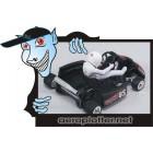 AUTOMODELO Turnigy F1 1/18 Mini-Go-Kart armação de fibra de Carbono (KIT versão COM servo)