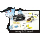 HELIMODELO SanHuan Copter 6027-1 Mini Metal M2X 3CH RC Helicopter RTF w/ Gyro (Yellow)*