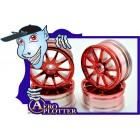 RODA 1/10 RC Car Metallic Plate 10 Talons HPI Wheel Set