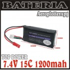 BATERIA TOP POWER 7.4V 15C 1200MAH