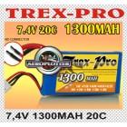 BATERIA T-REX PRO 7,4V 1300MAH 20C
