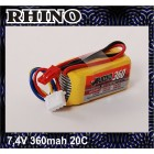BATERIA RHINO 360MAH 2S 7.4V 20C LIPOLY PACK
