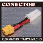 CONECTOR XT60 M / TAMYA M