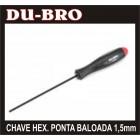 CHAVE DU-BRO PONTA BALOADA HEXAGONO 1,5MM