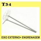 T34 EIXO EXTERNO+ENGRENAGEM