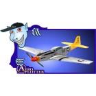 AEROMODELO MINI P51D- ART-TECH - 3CH - 72MHZ -  RTF